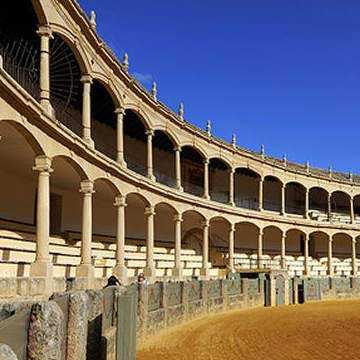 Ronda bull ring, one of the first
