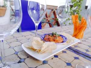 tapas on the rooftop terrace